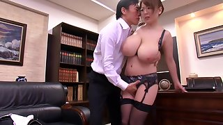 HORNYCAMS.PW - Asian in the matter of chubby tits undressing winning office