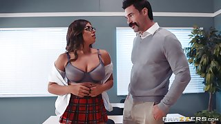 Ella Knox added to her professor enjoy fuck added to a blowjob in the lecture-room
