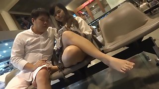 Another Candid Asian Feet Fingertips Shoeplay