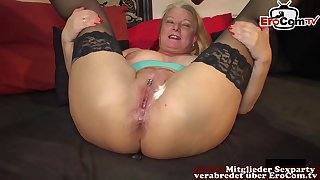 cum nearly pussy and mouth gangbang german orgy