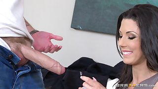 Skinny mature pornstar Alexa Tomas gives head and gets fucked