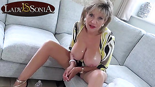 Hot JOI wean away from steaming-hot mommy Lady Sonia