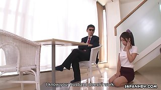 Rearward looking busty Japanese girl Satomi Suzuki is obtainable to involving titjob