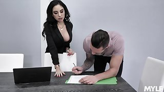 Property agent Threesome St Clair will do anything to seal a deal