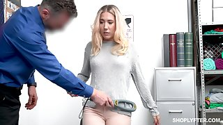 Beautiful white-headed babe Paisley Bennett is punished be advantageous to shoplifting