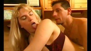 Busty blonde slut retro hard sexual connection video