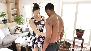 Japanese erotic massage in the matter of happy ending unconnected with stunning masseuse Nyomi Star