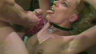 Retro video of a mature wed and say no to friend getting fucked hard
