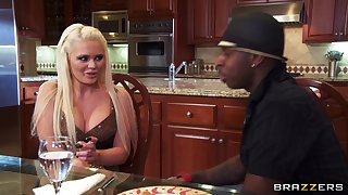 Big black cock makes slutty spliced Alexis Ford war cry with wonder