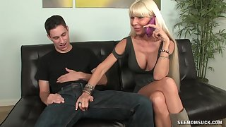 Horny mature blonde Kasey Storm takes pics dimension humongous head