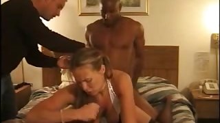 That's what you entreaty a real dear one and this slut loves interracial MMF threesomes