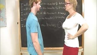 Oversexed partisan enjoys while his mature tutor strokes his slip-up