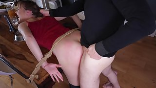 Submissive Sailor Luna aroused wits pleasure and pain at the hands of her Dom