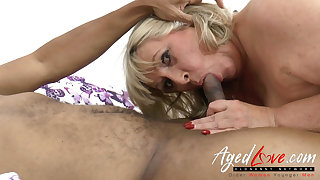 AgedLovE Big Black Knob in British Mature Vagina