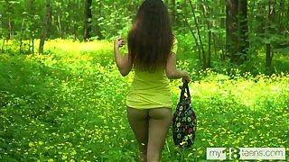 Katty West Walks in put emphasize Woods