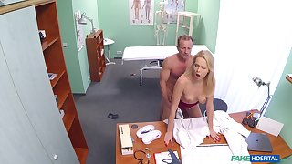 Intense doctor and sexy nurse fucking in the medical clinic