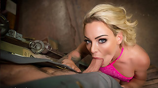 VR BANGERS Blonde housewife needs incite with car