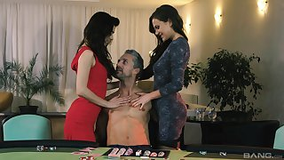 Best FFM threesome you have ever seen - Tina Kay and Tera Conjoin with b see
