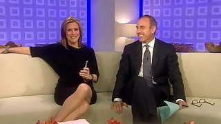 Upskirt on the TV show Meredith Vieira
