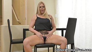 Karen Fisher, Cameron Skye With an increment of Andi James In An Senior Woman Intermediation Fun Part 415