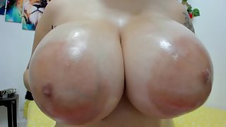 Arrogantly puffy nipples and Arrogantly breasts close up - Good-luck piece