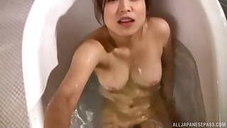 Homemade video of a pretty Asian bird pleasuring a learn of and eating cum