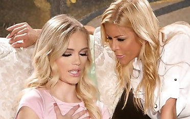 Blonde females naughty xxx lezzie play in freezing modes